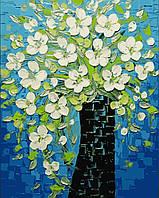 Картина по номерам на холсте без коробки Ваза с весенними цветами (BK-GX9174) 40 х 50 см