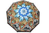 Женский зонт с контрастным рисунком
