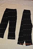 Лосины детские, с кружевом р.98-104,104-110.Черные