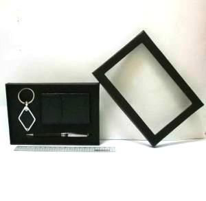 """Набор подарочный """"Male"""" ручка, визитница и брелок черного цвета"""