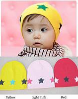 Шапка демисезонная для новорожденных мальчиков и девочек разных цветов от 5 мес до 3 лет