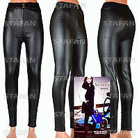 Женские штаны под кожу, на меху Zoloto S1655 XXXL-R
