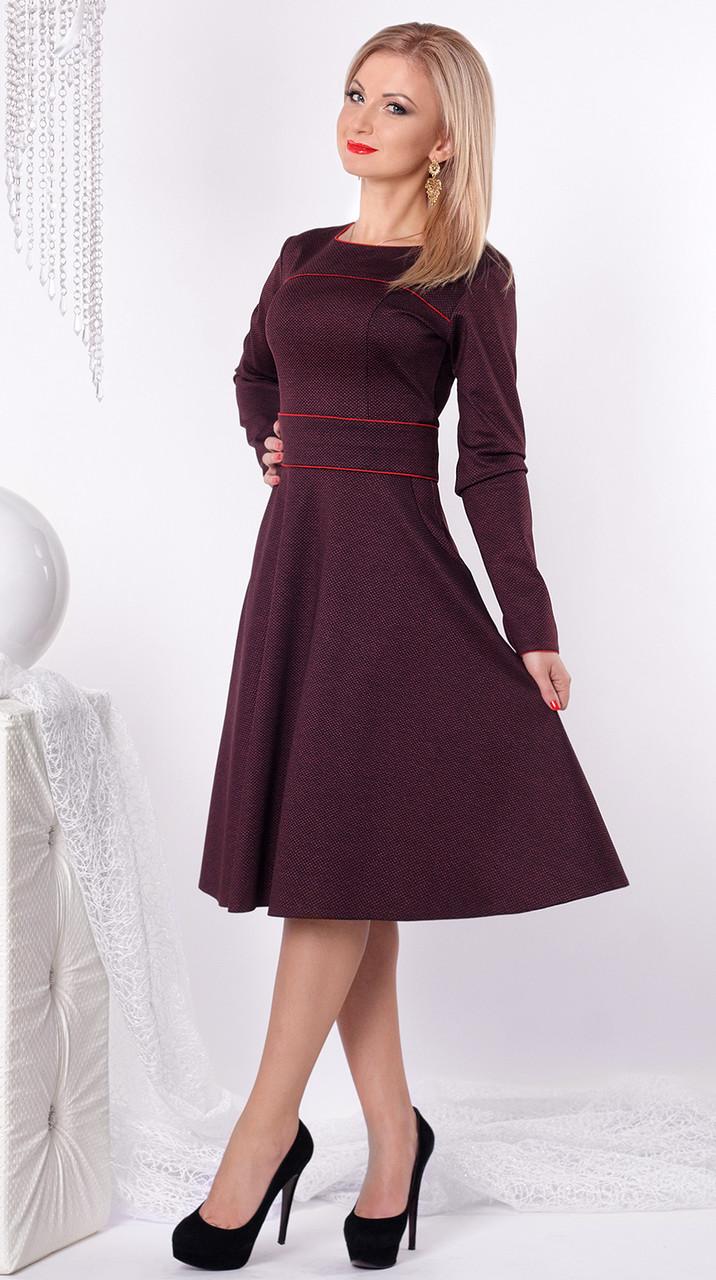 Женские платья плотный трикотаж фото
