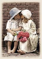 """Картина по номерам «Идейка» (КН1044) художественный творческий набор """"Первый поцелуй """"  40x50 см"""