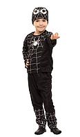 """Детский карнавальный костюм для мальчика""""Человек - паук черный"""""""