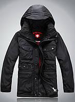 Мужская зимняя удлинённая куртка пуховик WELLENSTEYN в наличии, чёрный