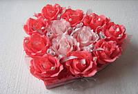 Подарок из конфет Сердце девушке, жене, любимой