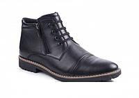 Классические зимние мужские ботинки на натуральном меху и комфортной подошве