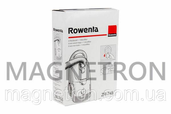 Мешок бумажный с выходным микрофильтром для пылесоса Rowenta ZR745 (аксессуар), фото 2