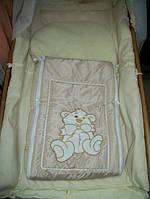 Меховой конверт в коляску и санки с вышивкой