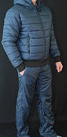 Спортивный костюм мужской зимний темно-синий, фото 1
