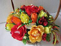 """Подарок женщине  букет роз из конфет """"Торжество"""""""