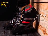 Зимние мужские кроссовки Adidas Chewbacca black