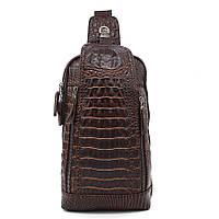 Рюкзак - сумка молодежный под кожу крокодила