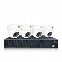 Комплект видеонаблюдения для помещения Partizan Indoor Kit 1MP 4xAHD, Киев