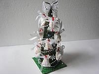 """Подарок на Новый год букет из конфет """"Елка"""", новогодние букеты из конфет"""