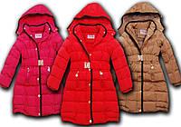 Зимнее пальто для девочки на холлофайбере 98-128см