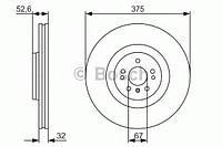 """Гальмівний диск mercedes ml/gl/r """"f """"06 (производство Bosch ), код запчасти: 0986479R31"""