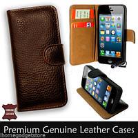 Чехол, портмоне из натуральной кожи для iPhone 5, 5s, фото 1