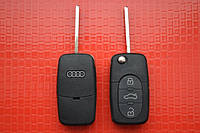 Audi A3, A4, A6, A8, S6, S8, TT выкидной ключ 3 кнопки Под батарейки 1620