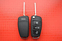Audi A1, A2, A3, A4, A6, A8, Allroad, Q7, TT выкидной ключ 3 кнопки с 2004 г.