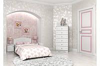 Детская кровать «Мишка» 120x190 см, без ящиков, цвет: белый