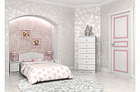 Детская кровать «Мишка» 120x190 см, + ящик на 3 секции, цвет: белый