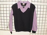 Кофта детская для мальчика рубашка обманка 122,128,134 см