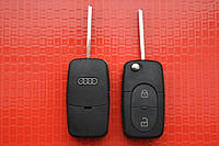 Ключ AUDI выкидной 2 кнопки 433Mhz id48. 4DO 837 231 R