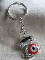"""Брелок """"Телефон"""" металлический  длина с кольцом 11,5  см."""