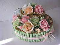 Подарок Торты из конфет на годовщину свадьбы, юбилей, день рождения