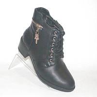 Зимние ботинки на каблучке