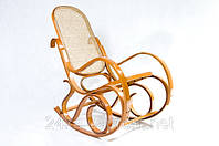 Кресло качалка светлое сетка