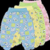 Ползунки цветные на широкой резинке, закрытая ножка, кулир (тонкий хлопок), ТМ ALEX, р.56, 62, 68, 74, 86