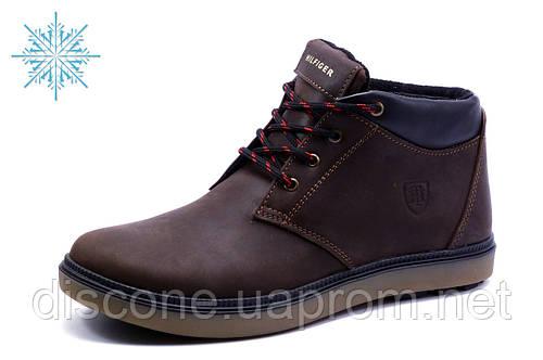 Ботинки зимние H.Denim мужские, коричневые, кожаные, р. 40 41 42 43 45