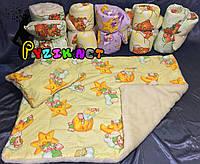 Набор зимнее детское одеяло + подушка на меху