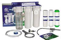 Трехступенчатая система Aquafilter FP3 КРАН HI-TEC ОРИГИНАЛ под раковину Для жесткой воды, купить