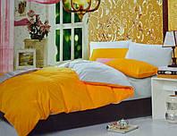 Однотонное постельное белье  сатин делюкс Prestij Textile