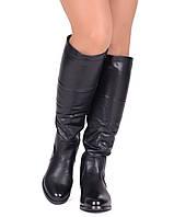 Женские высокие зимние сапоги на небольшом каблуке