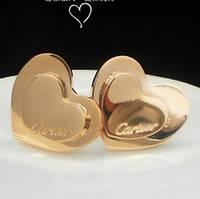 Серьги Cartier двойное сердце