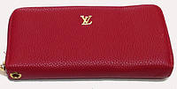 Женский кошелек Барсетка Louis Vuitton бордового цвета