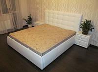 """Двуспальная кровать """"Аэлита"""" из эко.кожи, кожзама по индивидуальным размерам"""