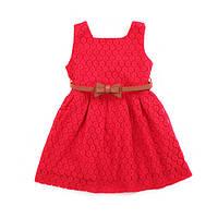 Детское летнее платье с ремешком