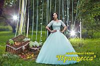 """Свадебное платье """"Адель"""" с кружевной майкой и рукавами"""