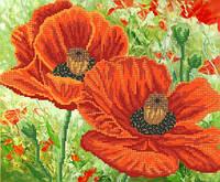 Ткань с рисунком для вышивания бисером Алый бархат РКП-584