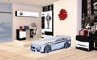 """Комплект детской мебели для комнаты """"BMW белая"""" кровать 180*80 см"""