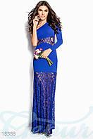 Вечернее кружевное платье. Цвет синий электрик.