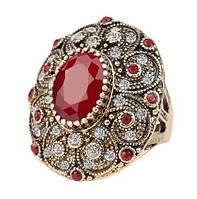 Массивное кольцо с кристаллами р 18,19,20 код 320