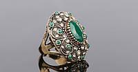Массивное кольцо с кристаллами р 17,18,19,20 код 320