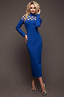 Стильное платье Тресси электрик 42-48 размеры Jadone